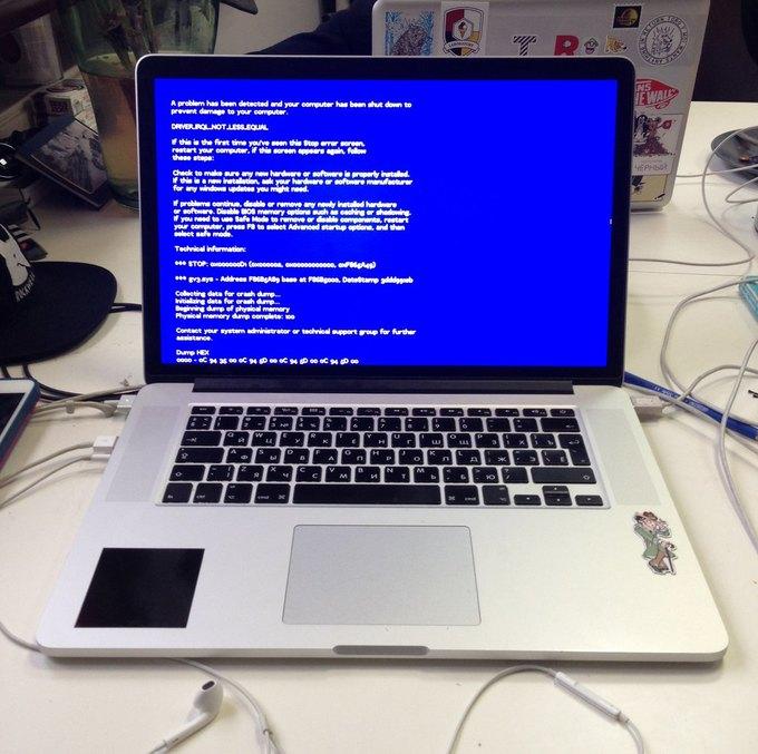всплывающие окна и ошибки на ноутбуке