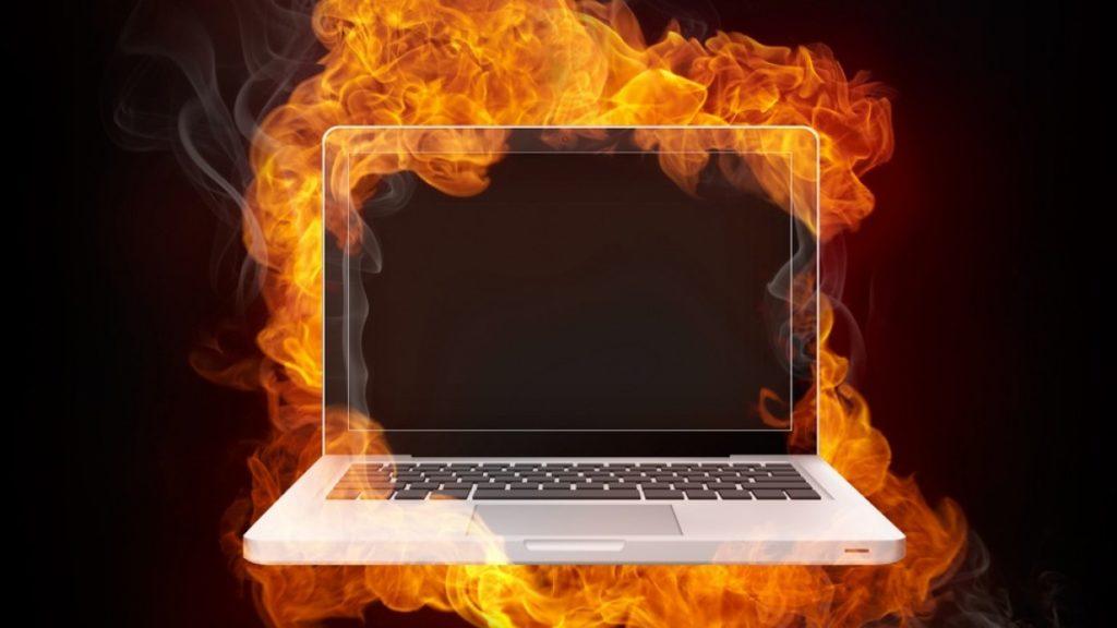 сильный нагрев ноутбука