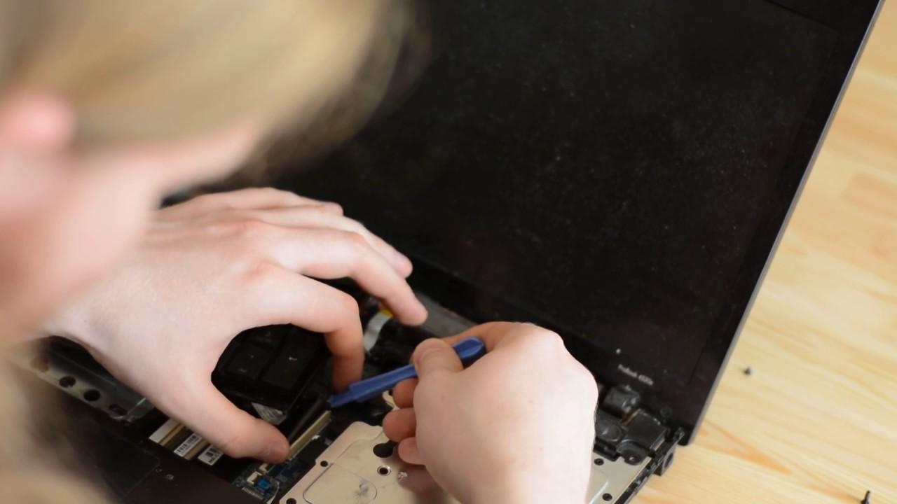 Разборка ноутбука при нагреве